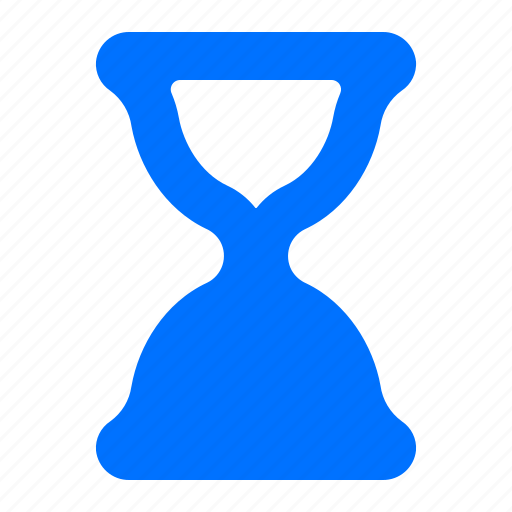 half, hourglass, time, timer icon