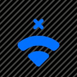connection, internet, no, wifi icon