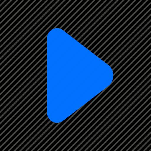 media, multimedia, play, pointer icon