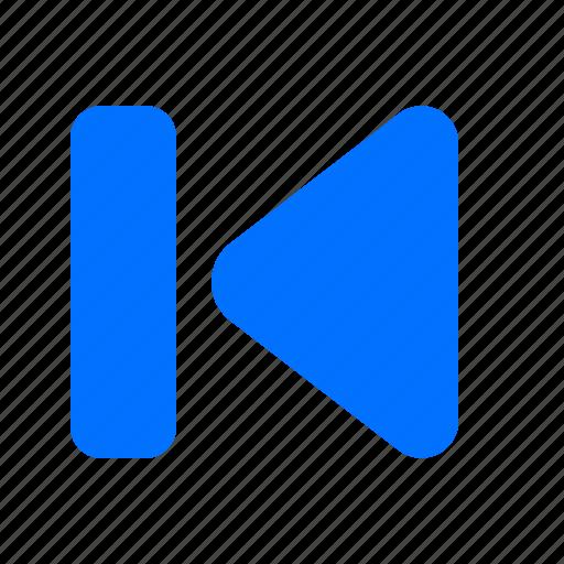 media, multimedia, pointer, previous icon