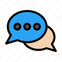 chat, messages, conversation, discussion, meeting