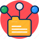 concept, content, content sharing, data, data network, folder, group, network icon, share icon