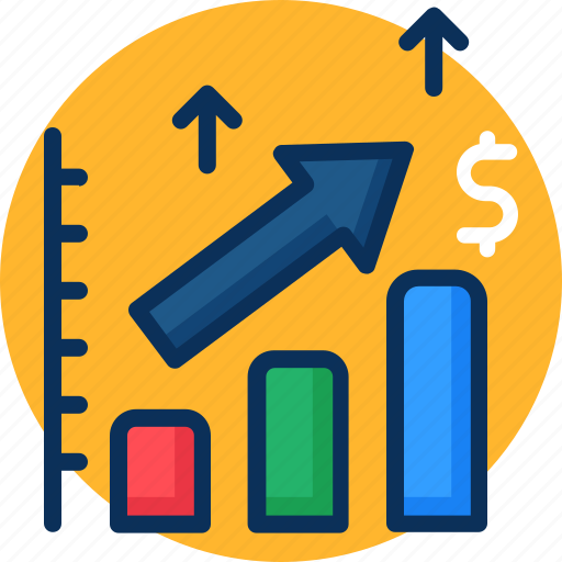 analysis, analytics, dollar, forecast, money, prediction, trend icon, trend icon analysis, up icon