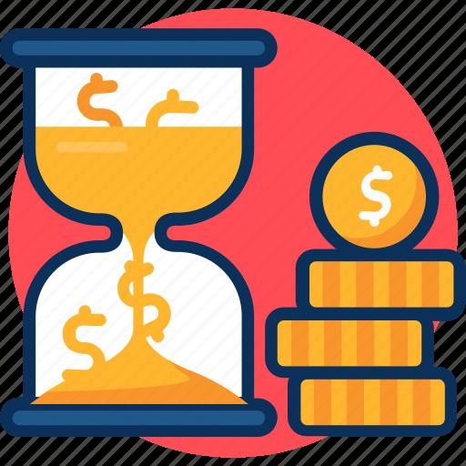 business, concept, crruncy, dollar, hourgalss, importance, is money, marketing, money, sandglass, time icon icon