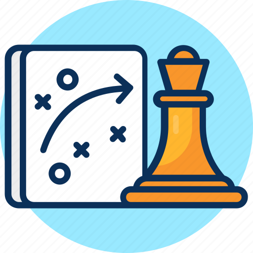business strategy, chess, concept, planning, project, strategy, strategy planning icon icon