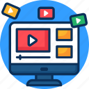 concept, digital, internet, marketing, media, promotion, seo, social, video marketing icon icon