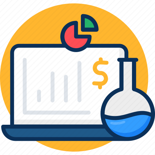 analysis, concept, data, data analysis, finance, flask, market, market reseacrch icon, research icon
