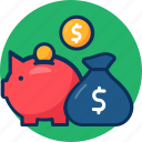 business, concept, finance, investment, investment icon, marketing, money bag icon, profit icon