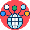 connection, global network, internet, network, social icon icon