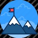 achievement, challenge, mission, peak, success, trophy icon icon