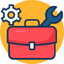 briefcase, conecpt, design, development, job, management, portfolio, project management icon icon