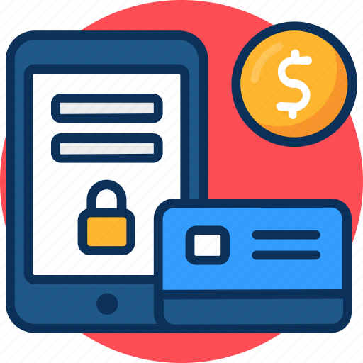 banking, credit card, dollar, lock, login, mobile, money, password, payment icon, security, squre icon
