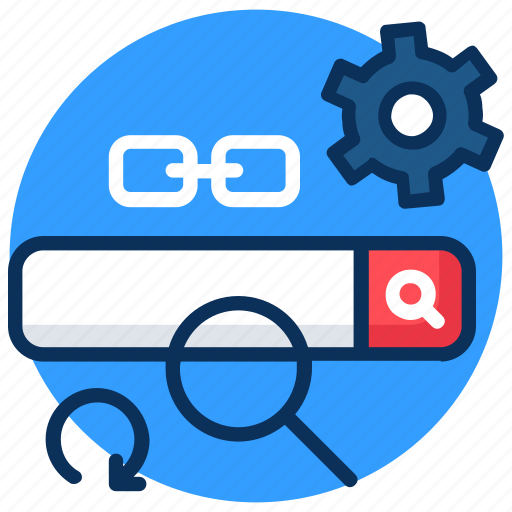 business, concept, engine, gear, heart, link, optimization, search, seo icon icon