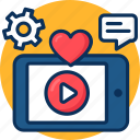 marketing, media, play, seo, tablet, video, video marketing icon, youtube icon