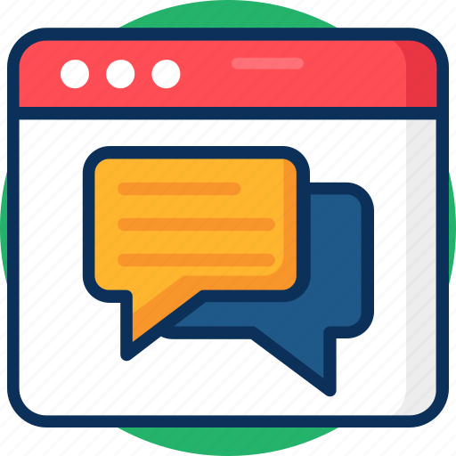 chat, chatting, communicatio, conversation, flowchart, message, online, sitemap, web, web chat icon icon