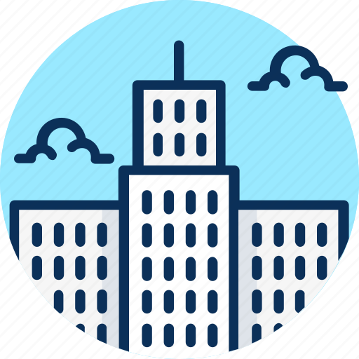 architecture, big city, building, business, city, house, office, office icon, skyscraper icon hotel icon