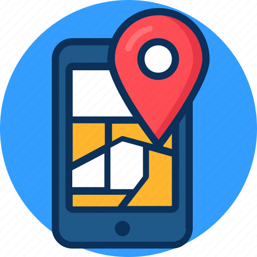 gps, location, map, mobile location, tracking icon icon