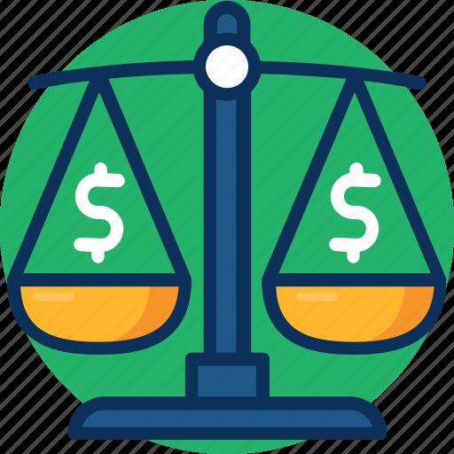 balance, balance icon, debt, dollar, mortgage loan, taxes icon