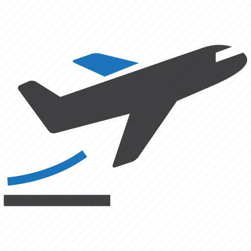aircraft, ascending, plane, take off icon