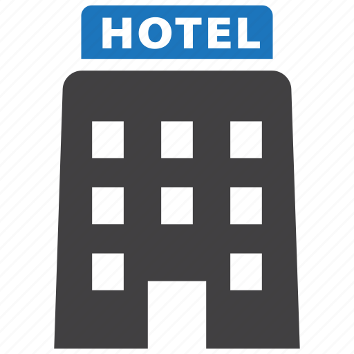 building, hotel, travel, vacation icon