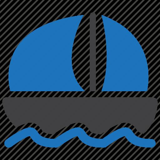 sailing, sea, ship, travel icon