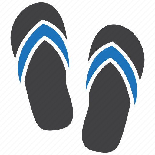 flip flops, sandals, slippers icon