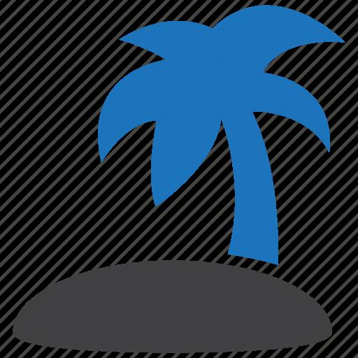 island, palm, tropical icon