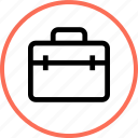 briefcase, carry, outdoors, travel, vacation icon