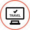 check, outdoors, travel, vacation, website icon