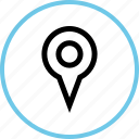 gps, location, outdoors, travel, vacation icon