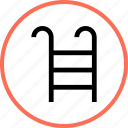 ladder, outdoors, pool, travel, vacation icon