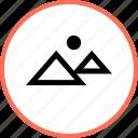hot, outdoors, pyramid, sun, travel, vacation icon