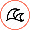 outdoors, travel, vacation, wave, waves icon