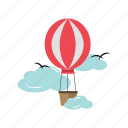 balloon, flight, floating, transportation, travel icon