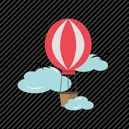 balloon, flight, floating, transportation, travel icon