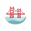 architecture and city, bridge, landmark, overpass icon