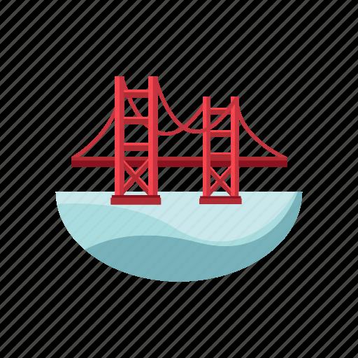architecture and city, bridge, landmark, overpass icon
