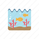 aquatic life, corals, fishs, ocean, undersea icon