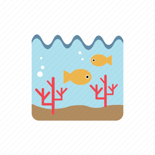 aquatic life, corals, fishs, ocean, undersea icon