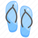 casual slippers, chappal, flip flops, footwear, home slippers icon