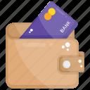 billfold wallet, card wallet, cash wallet, money wallet, purse icon