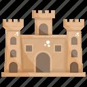 castle, estate house, historical place, medieval castle, vintage castle icon
