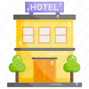 accomodation, building, hotel, infrastructure, lodging, motor inn icon