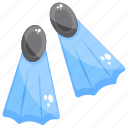 flippers, footwear, silifins, swim fins, swimming accessory icon