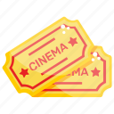 boarding pass, cinema pass, cinema tickets, ready to go, show passes icon