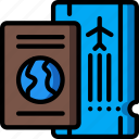 holiday, passport, tickets, travel, vacation, vacations icon
