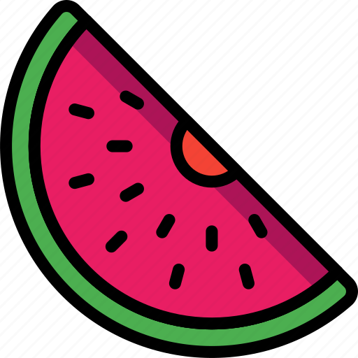 fruit, holiday, melon, travel, vacation, vacations, water icon
