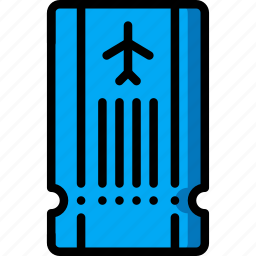 holiday, pass, plane, ticket, travel, vacation, vacations icon