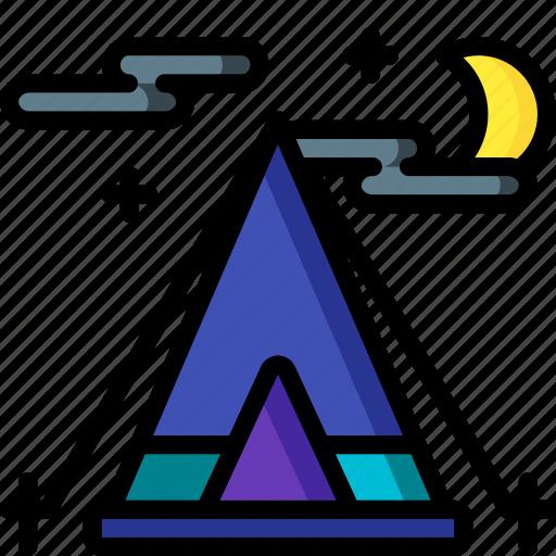 camping, holiday, tent, ti pi, travel, vacation, vacations icon