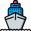 cruise, holiday, ship, travel, vacation, vacations icon